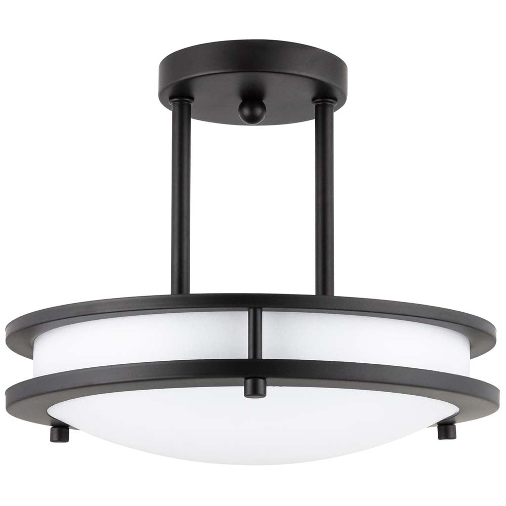 Sunlite 49102-SU Pendant Semi Flush Fixture Oil Rubbed Bronze Warm White 3000k