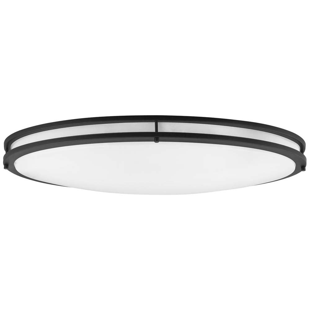 "Sunlite 49104-SU 40w 32"" LED Oval Flush Mount Fixture Black Cool White 4000k"