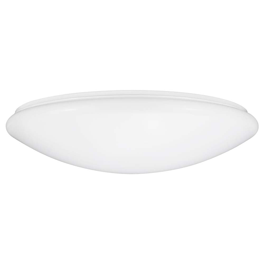 "Sunlite 49121-SU 25w 14"" LED Round Mushroom Light Fixture White Warm White 3000k"