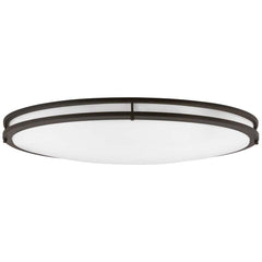 "Sunlite 49145-SU 40w 32"" LED Oval Flush Mount Fixture Bronze Warm White 3000k"