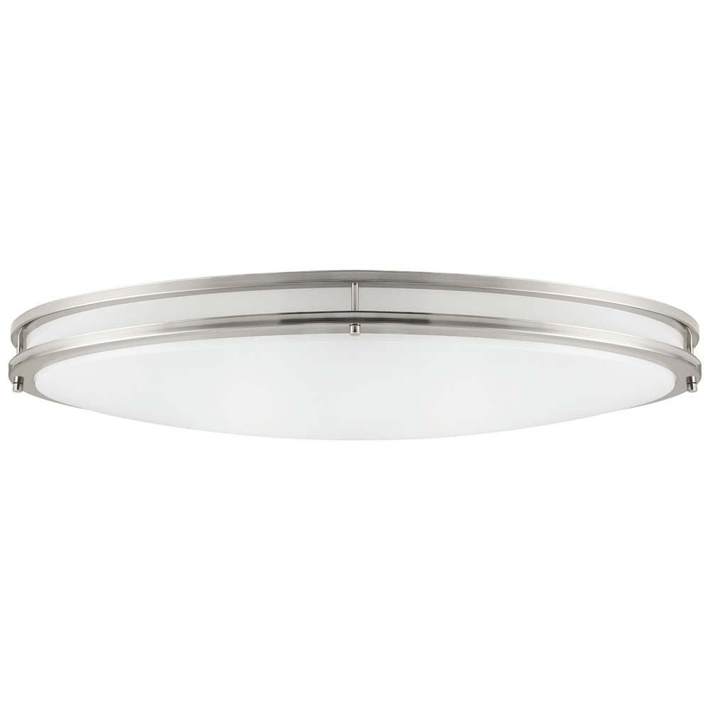 "Sunlite 49146-SU 32"" Oval Flush Mount Fixture Brushed Nickel Warm White 3000k"