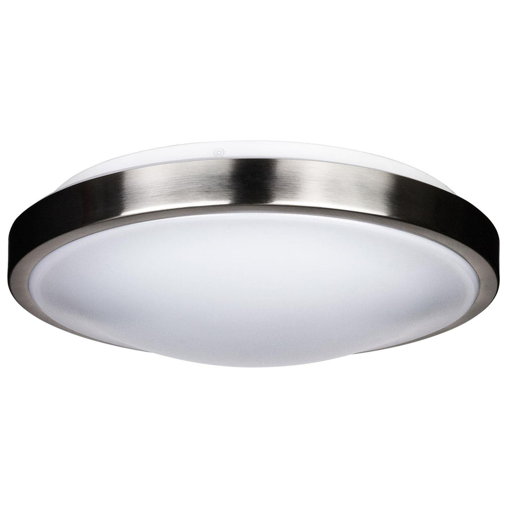 SUNLITE 15W 12in. LED Mushroom Solid Band Ceiling Light 3000K Warm White