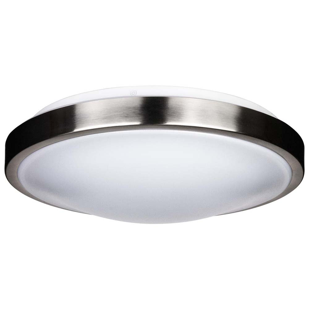 Sunlite 49151-SU 15w LED Ceiling Fixture Brushed Nickel Trim Cool White 4000k