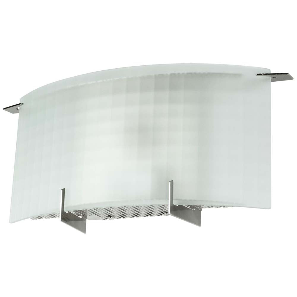 Sunlite 49156-SU 9w LED Glass Wall Fixture Brushed Nickel Cool White 4000k