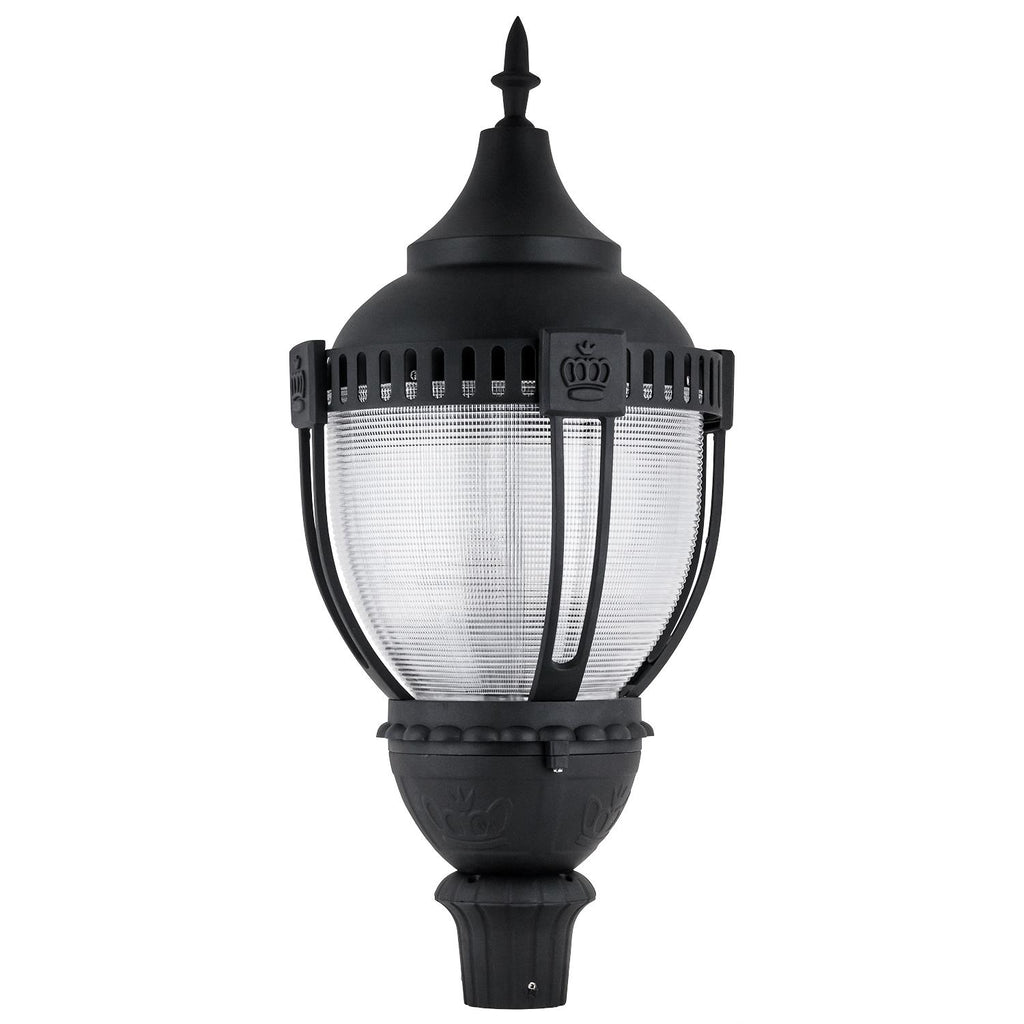 Sunlite 49186-SU 80w LED Decorative Acorn Pole-Top Fixture in Black Finish 5000k