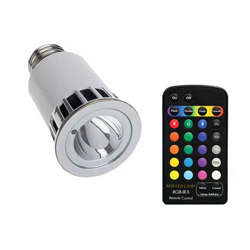 RGB E27 LED Lamp w/ Wireless Remote Controller