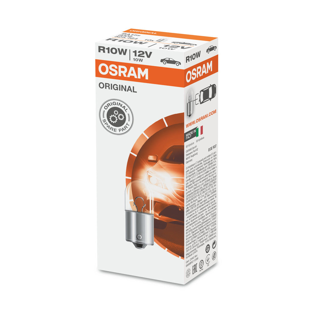 10-PK Osram 5008 R10W 12V 10W BA15s High-Performance Automotive Bulb