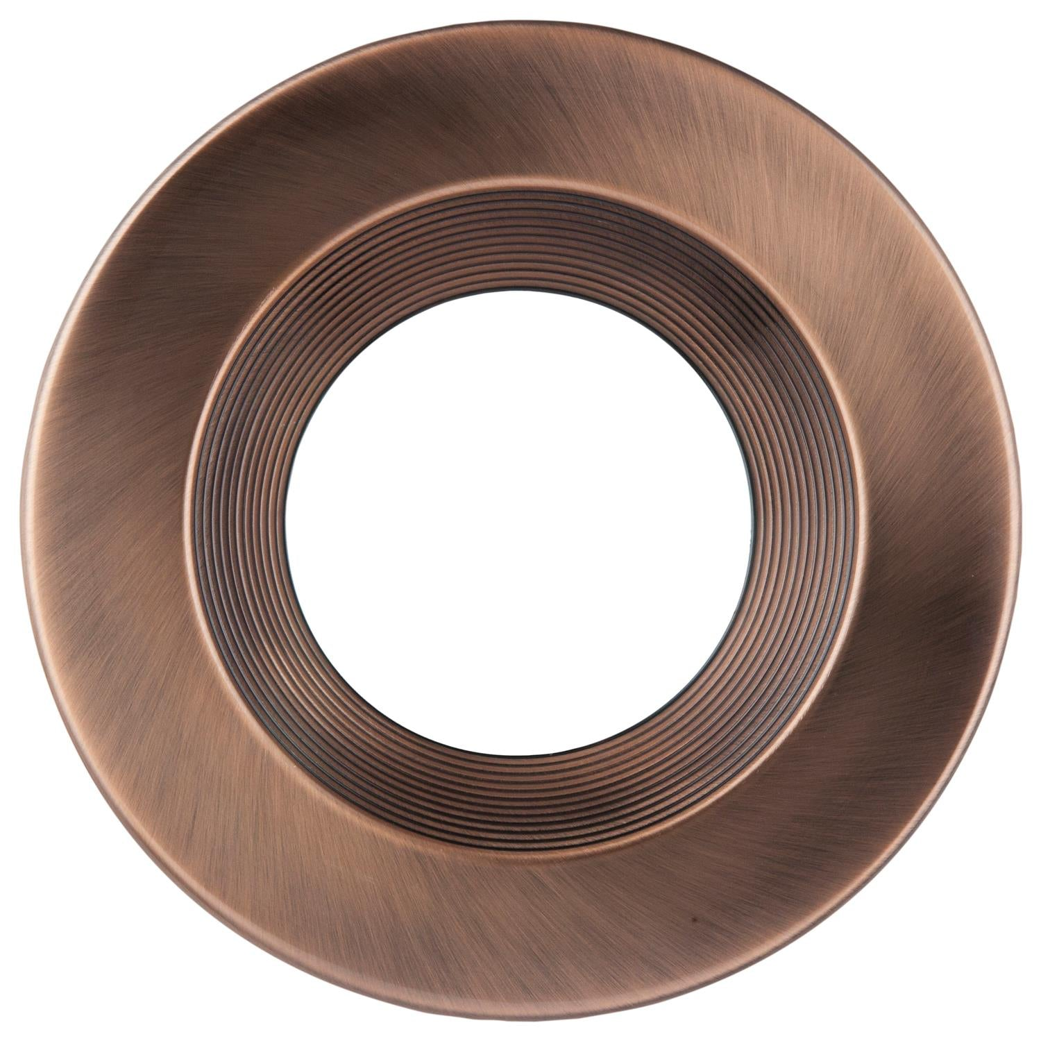 "SUNLITE 6"" Round LED Trim Retrofit Fixture, Bronze Finish"