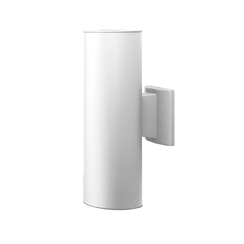 NICOR 15 in. White Wall Mount Cylindar Sconce