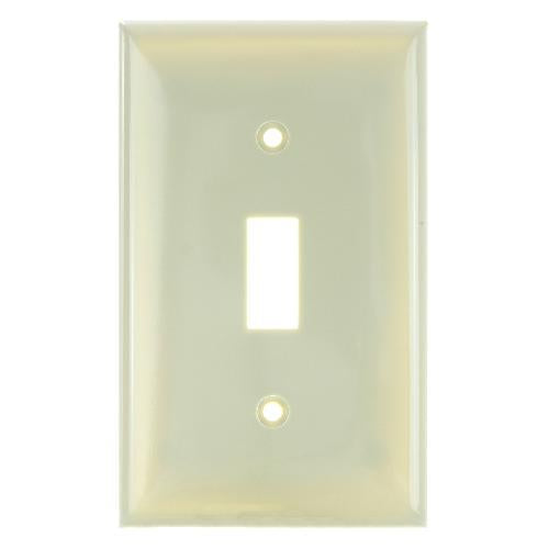 SUNLITE 1 Gang Toggle Plate Ivory Color E101I