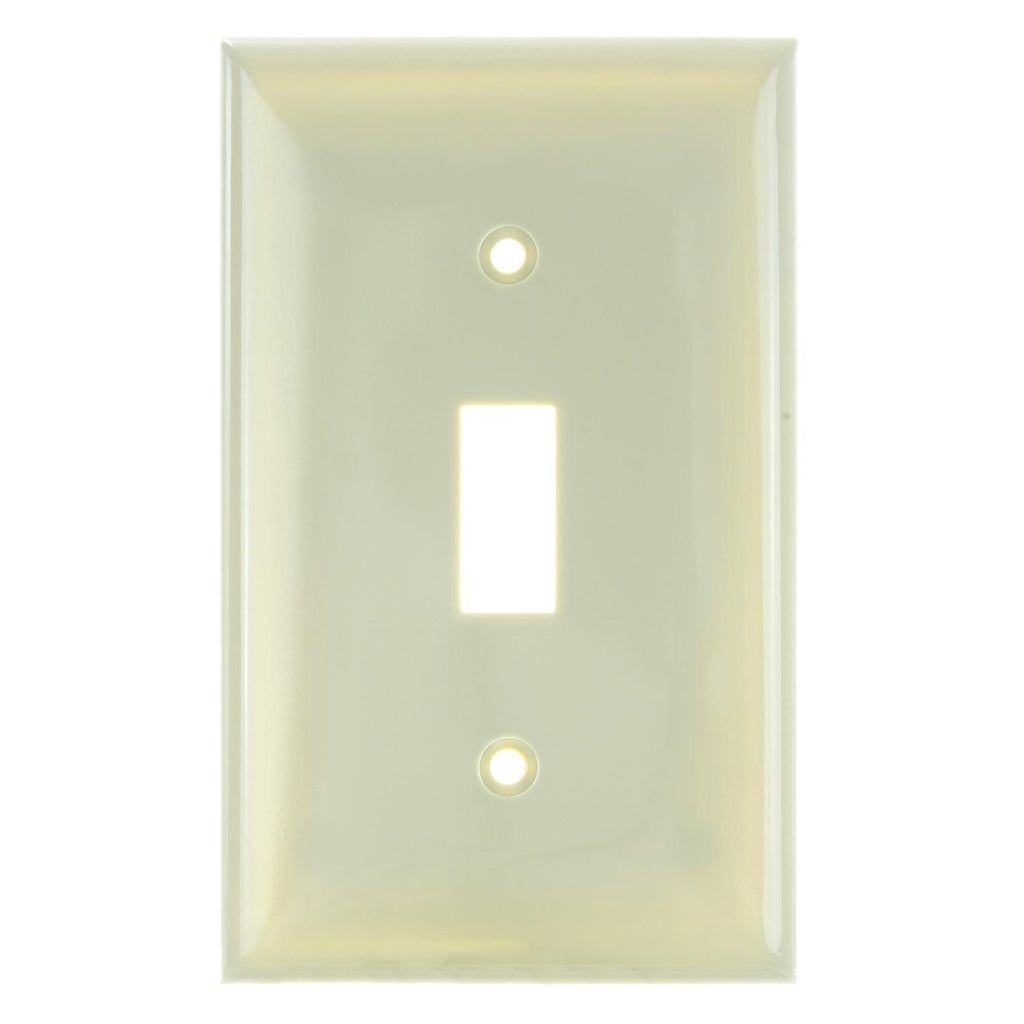 12Pk - SUNLITE 1 Gang Toggle Plate Ivory Color E101I