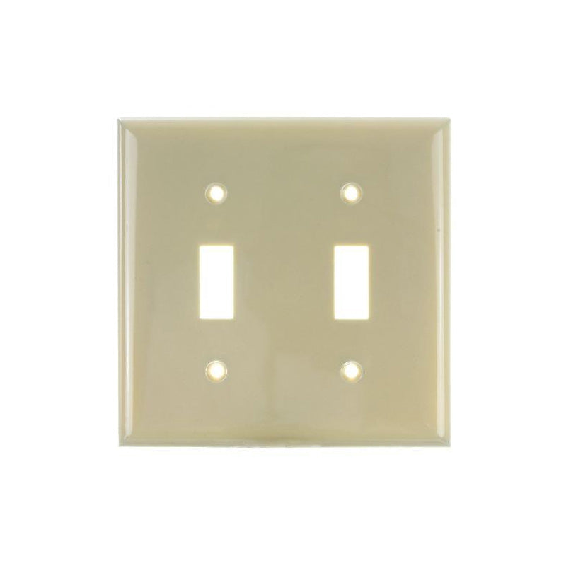 SUNLITE 2 Gang Toggle Plate Ivory Color E102I