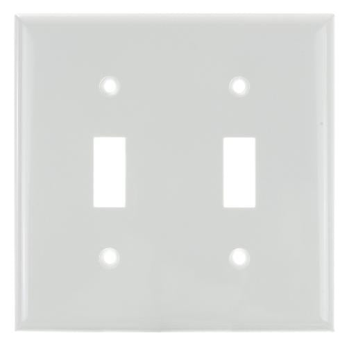 SUNLITE 2 Gang Toggle Plate White Color