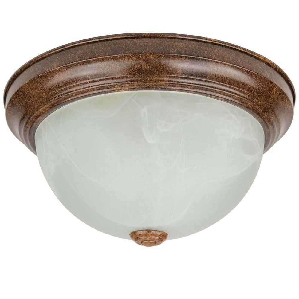 "Sunlite 50574-SU 17w 11"" Dome LED Decorative Dome Fixture Brown Warm White 3000k"