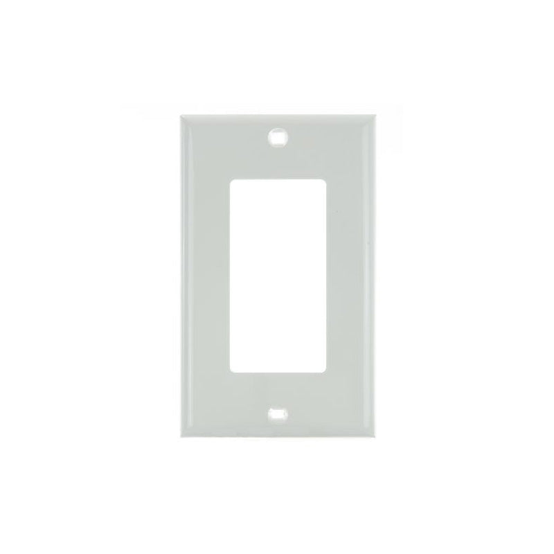 SUNLITE 1 Gang Decorative Plate White Color E301W