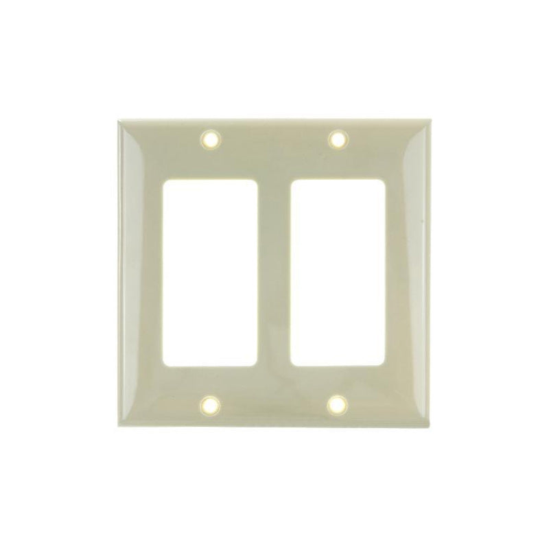 SUNLITE 2 Gang Decorative Plate Ivory Color E302I