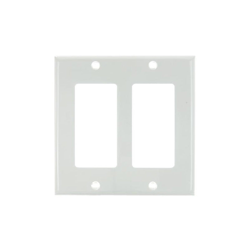 SUNLITE 2 Gang Decorative Plate White Color E302W