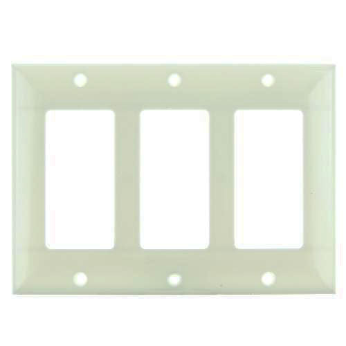 SUNLITE 3 Gang Decorative Plate Almond Color E303A