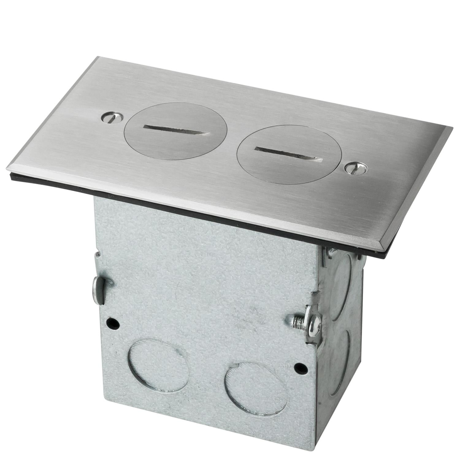 Sunlite 15A/20A 125VAC Stainless Steel Recessed Floor Plate
