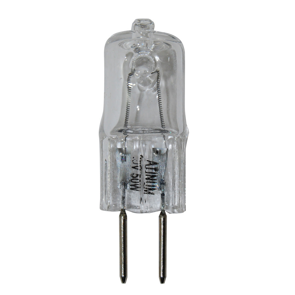 Platinum 50W 120V GY6.35 Bi-Pin Base Clear Halogen Bulb
