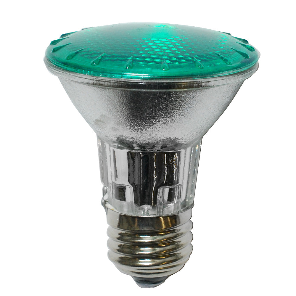 Platinum 50W 120V PAR20 Narrow Flood Green Halogen Bulb