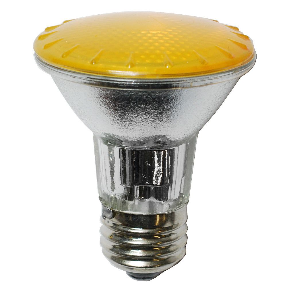 BulbAmerica 50W 120V PAR20 Narrow Flood Yellow Halogen Bulb