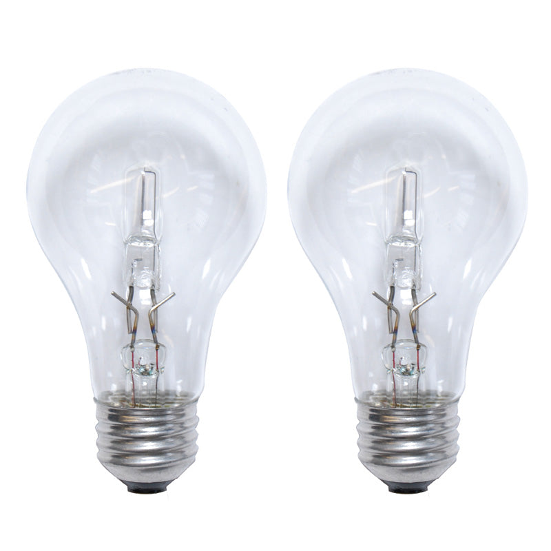 2pk Sylvania 72w A Shape A19 E26 Clear Halogen Light