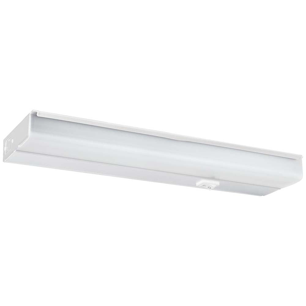 "Sunlite 53078-SU 10w 18"" LED Under Cabinet Light Fixture White Warm White 3000k"