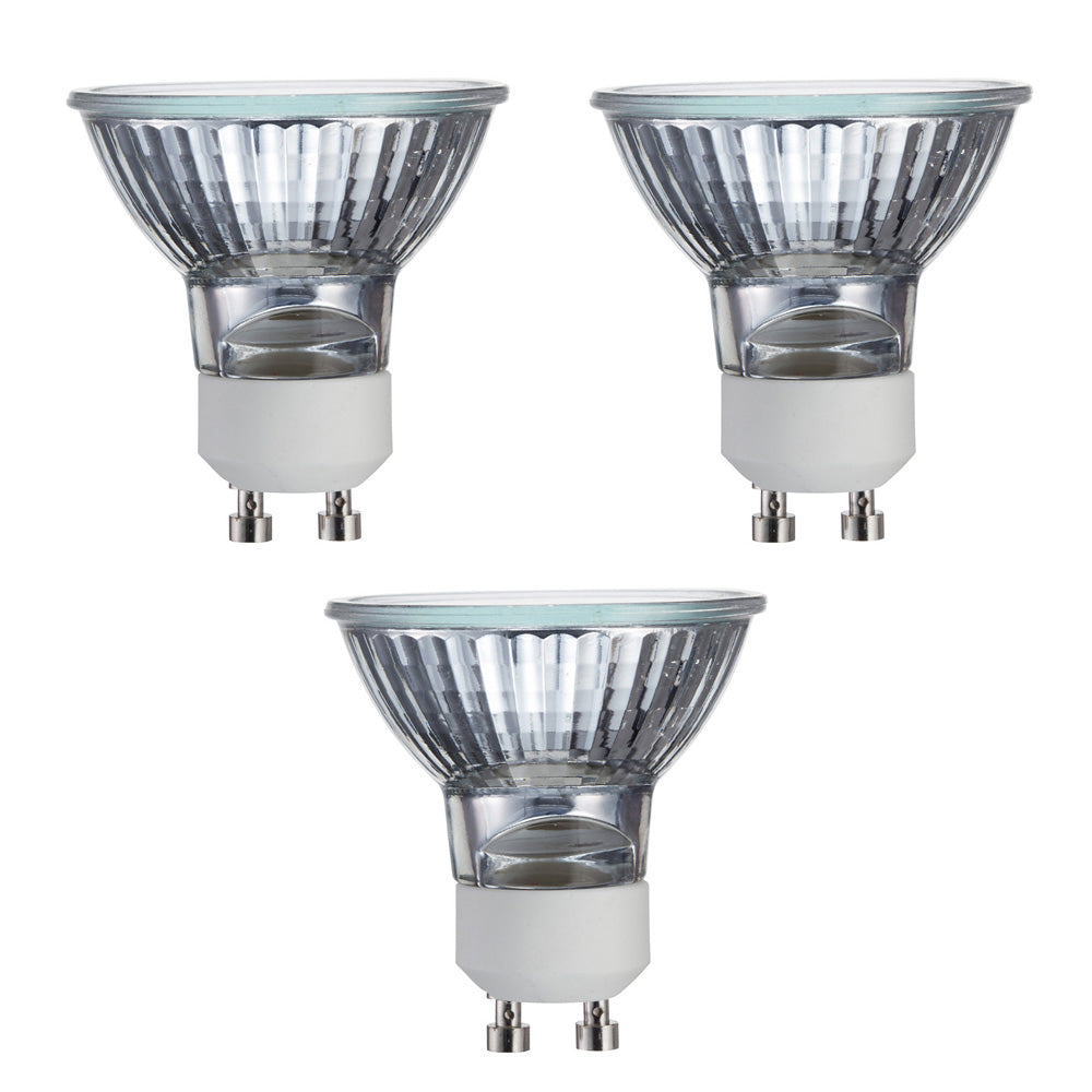 3Pk - Philips 50w MR16 GU10 Flood 25 2800K Dimmable Halogen Bulb