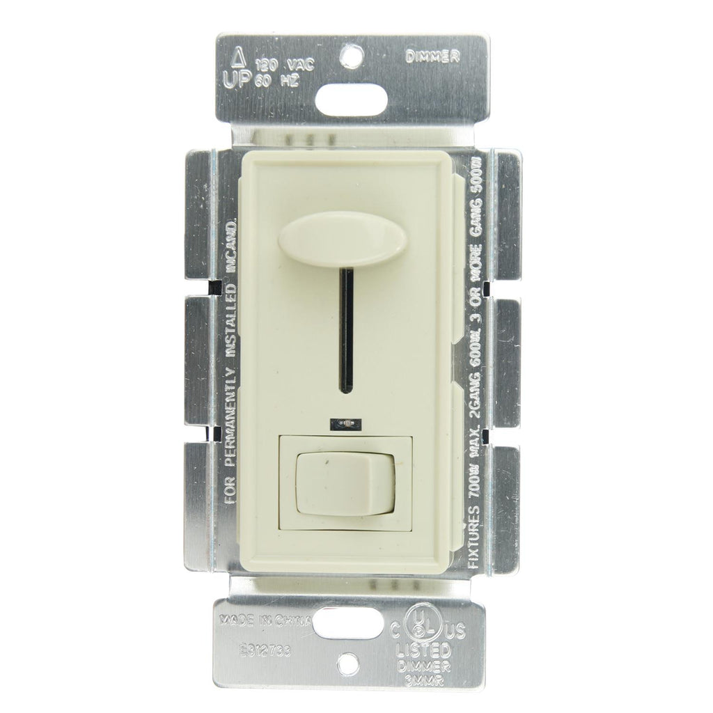 SUNLITE Slide Dimmer with On/Off Switch 700w 120v, Ivory