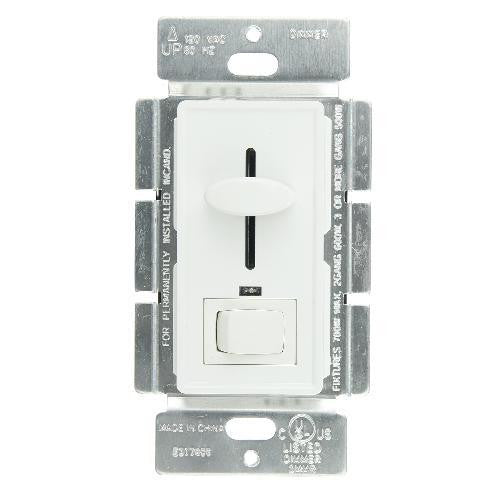 Sunlite Slide Dimmer with On/Off Switch 700w 120v, White