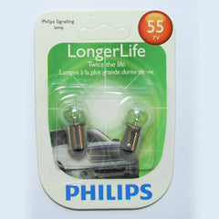 2pk - Philips  55LLB2 - 2.87w 7V Long Life Automotive Miniature Light Bulb