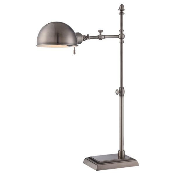 Nuvo 25 inch Vintage Desk Lamp with Adjustable height - Antique Nickel