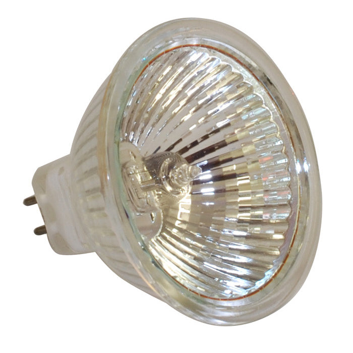 OSRAM 44870 50w 12v MR16 Wide Flood w/ Front Glass GU5.3 2950K Halogen Bulb