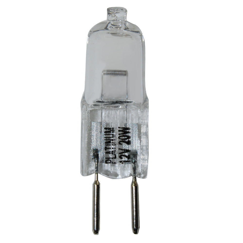 Platinum 20W 12V GY6.35 Bi-Pin Base Clear Halogen Bulb