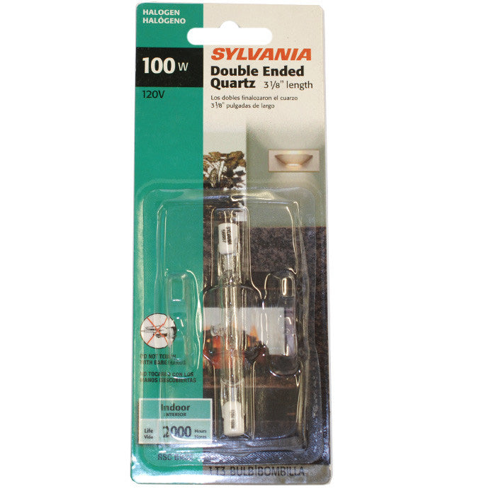 Sylvania 100w 120v R7s T3 Tungsten Halogen Double Ended