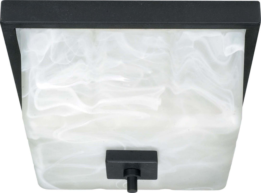 Nuvo Cubica - 2 Light - 12 inch - Flush Mount - w/ Alabaster Glass