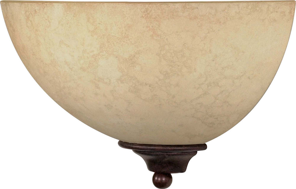 Nuvo Tapas - 1 Light - 12 inch - Sconce - w/ Tuscan Suede Glass