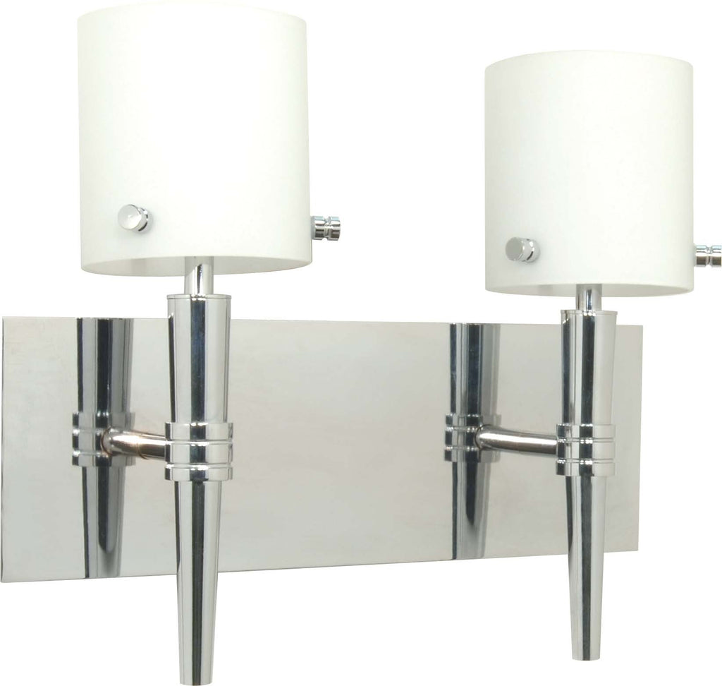 Nuvo Jet - 2 Light - Halogen Wall - Vanity w/ Satin White Glass - Lamps Included