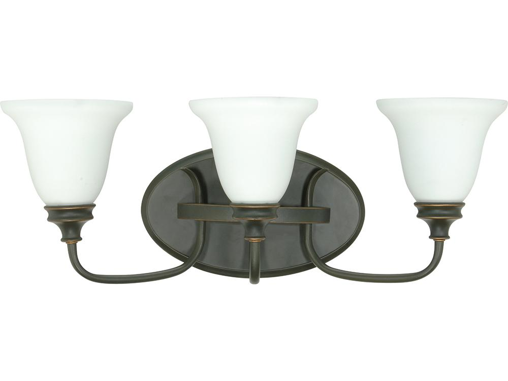 Bistro - 3 Light Wall - Vanity w/ Satin Opal White Glass