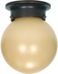 Nuvo 1 Light 6 inch Ceiling Mount w/ Champagne Linen Washed Glass