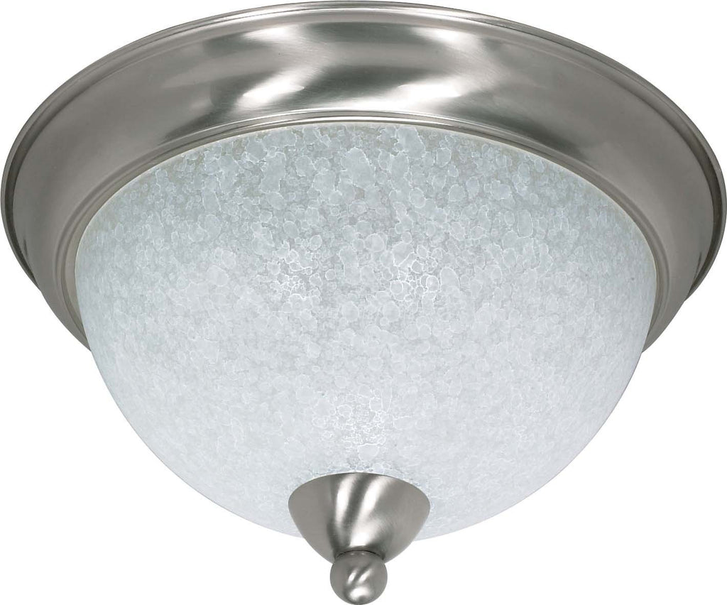 Nuvo South Beach - 3 Light - 15 inch - Flush Mount - w/ Water Spot Glass