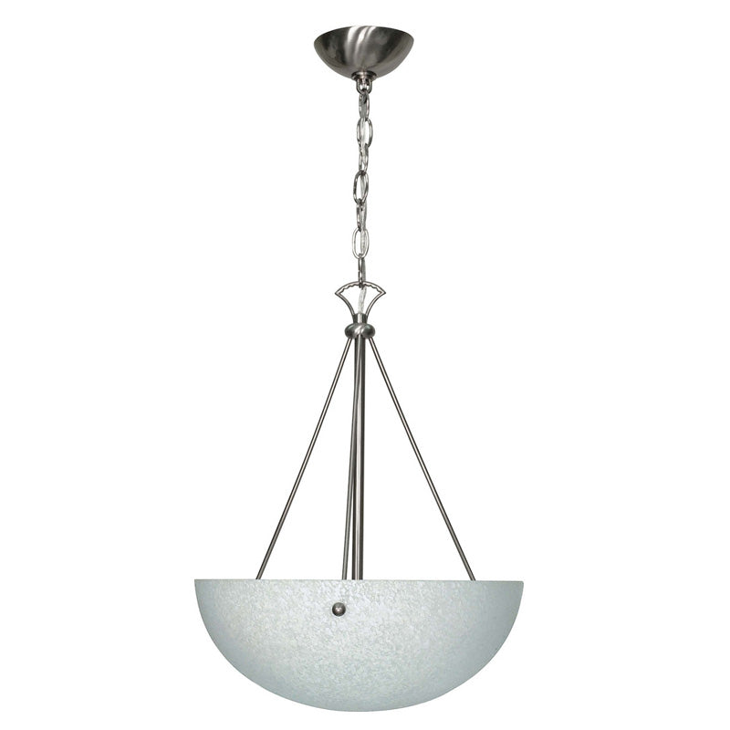 Nuvo South Beach - 3 Light - 15 inch - Pendant - w/ Water Spot Glass