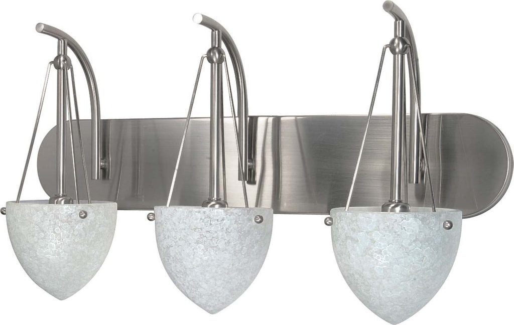 Nuvo South Beach - 3 Light - 24 inch - Vanity - w/ Water Spot Glass