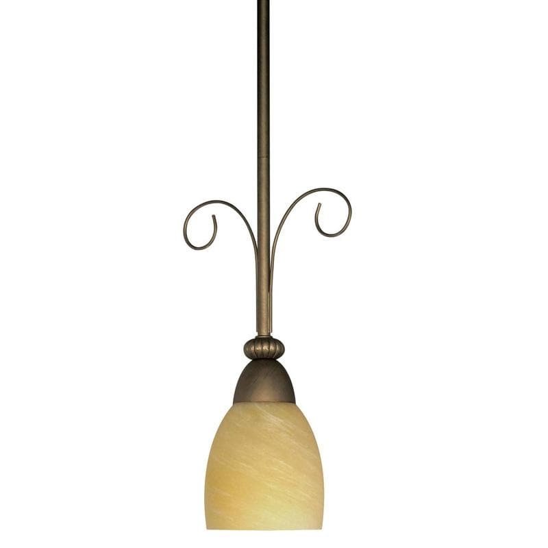 Nuvo Vanguard - 1 Light - 9 inch - Mini Pendant - w/ Hang-Straight Canopy