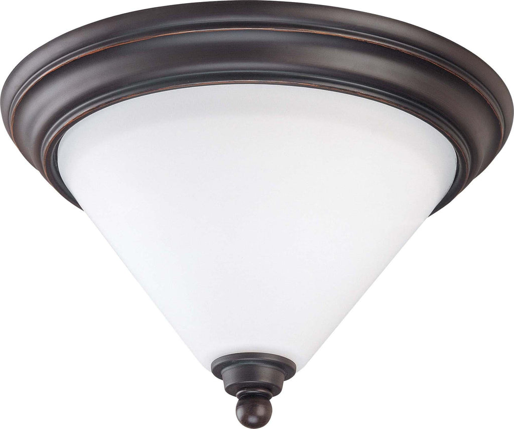 Nuvo Bridgeview - 1 Light 11 inch Flush Dome - Satin White Glass