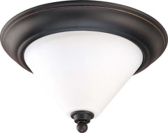 Nuvo Bridgeview - 2 Light 13 inch Flush Dome - Satin White Glass