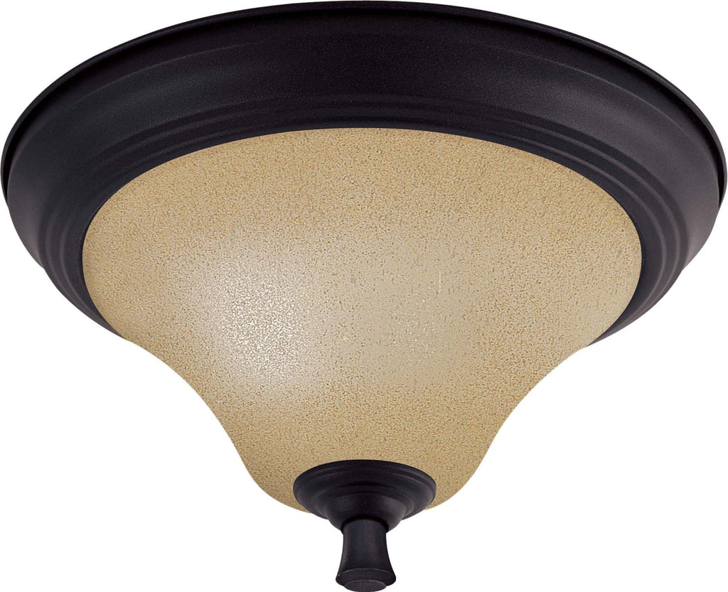 Nuvo Dakota - 2 Light 11 inch Flush Dome w/ Toasted Honey Glass