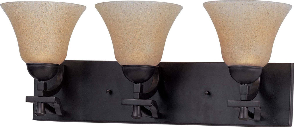 Nuvo Dakota - 3 Light Vanity w/ Toasted Honey Glass