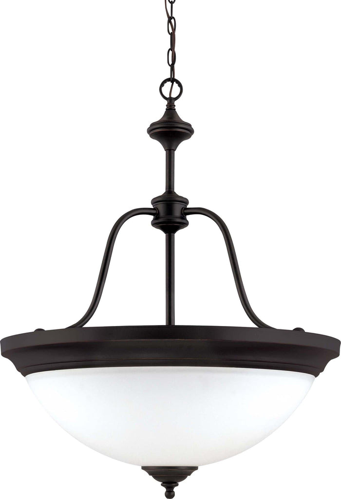 Nuvo Glenwood - 3 Light Pendant w/ Satin White Glass